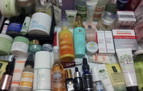 Skincare stash