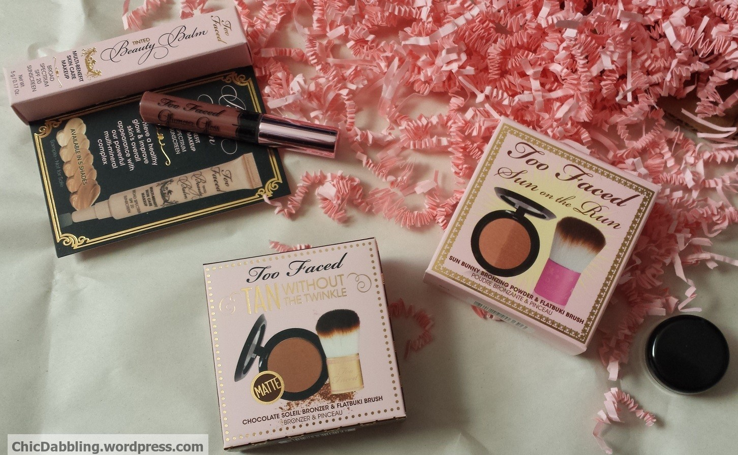 Too Faced (and other) bronzer swatches | Chic Dabbling