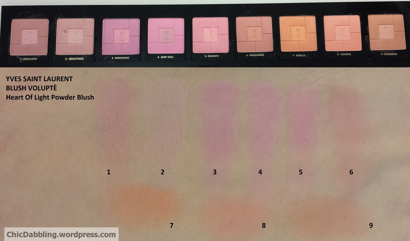 Blushing For Fall Blush Swatchfest Including Ysl Volupte