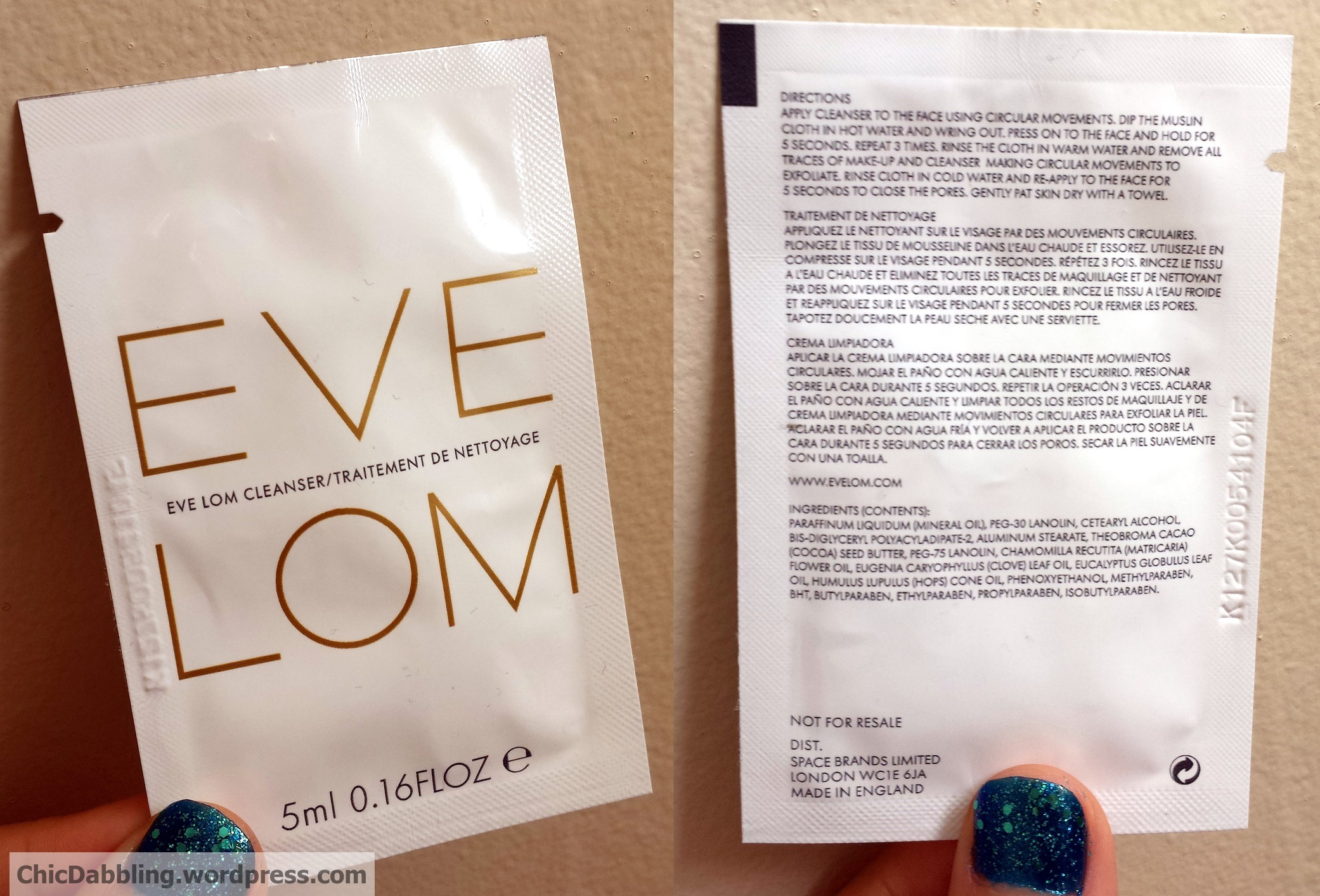 eve lom cleanser instructions