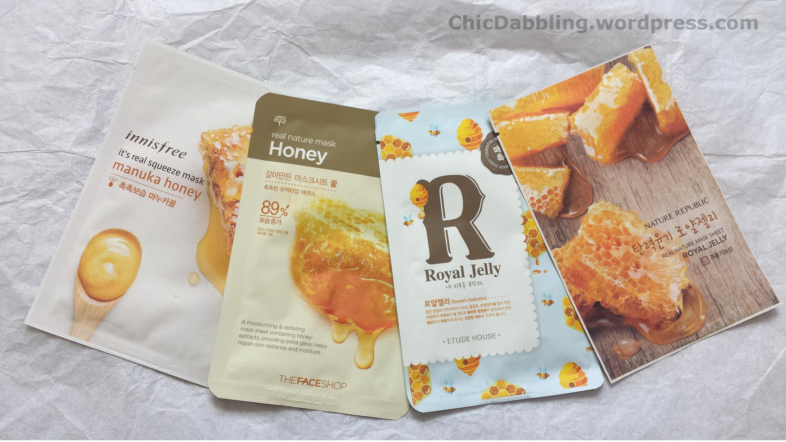 Sheet Masks Ingredient Highlight Honey And Royal Jelly Chic Dabbling Jellys Pure Face Mask Power Soap Sheetmaskhoney